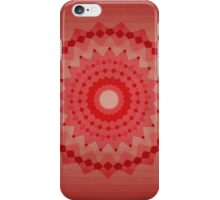 red kaleidoscope with cubes iPhone Case/Skin
