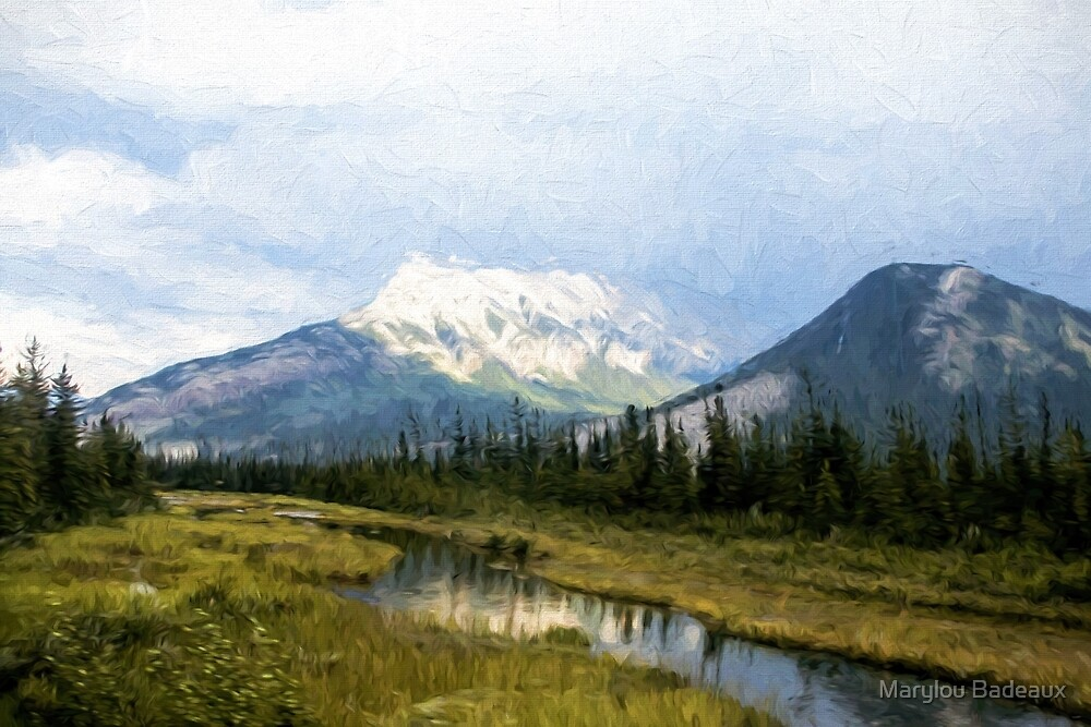 Glorious Canadian Landscape by Marylou Badeaux