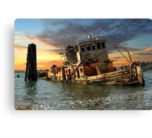 The Sunset Years Of The Mary D. Hume Canvas Print