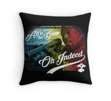 Omar Little - Oh Indeed (Rainbow) - Cloud Nine Edition Throw Pillow