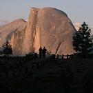 Sundown Silhouettes at Half Dome by Susan Russell