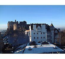 Edinburgh Castle and Ramsay Gardens Photographic Print