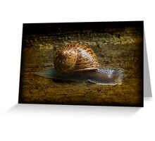 Escargot Greeting Card