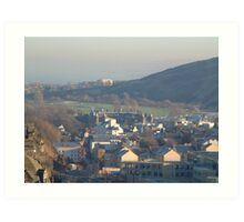 Holyrood Palace and Arthur's Seat Art Print