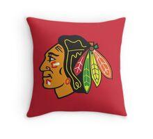 Blackhawks (Red) Throw Pillow