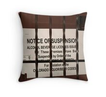Oh, oh ... Oh No! Throw Pillow
