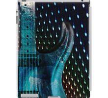 electric guitar blue iPad Case/Skin