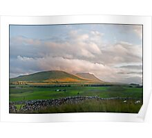 Low Cloud over the Dales Poster