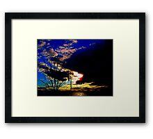 Coming to the end of the day  Framed Print