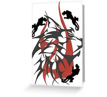 Robert's Tribal Abstract Panthers Greeting Card