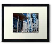 Austin 360 and Austin Music Hall Framed Print