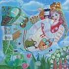 Mom - folk art painting by Lana Wynne