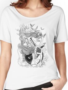 Music, Love, Peace!! Women's Relaxed Fit T-Shirt