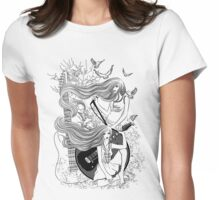 Music, Love, Peace!! Womens Fitted T-Shirt