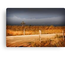 STORM CLOUDS AND RUSTY WIRE Canvas Print