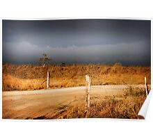 STORM CLOUDS AND RUSTY WIRE Poster
