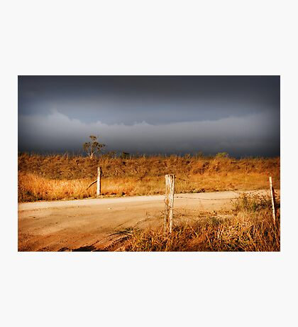 STORM CLOUDS AND RUSTY WIRE Photographic Print