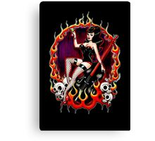Rockabilly Rockabella (Black) Canvas Print