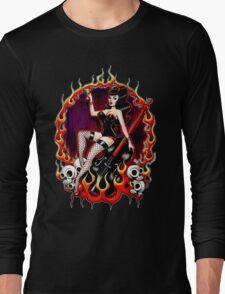 Rockabilly Rockabella (Black) Long Sleeve T-Shirt