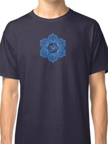 Blue Lotus Flower Yoga Om Classic T-Shirt