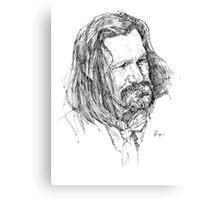 Western ink portrait Canvas Print