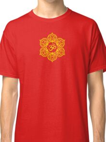 Yellow Lotus Flower Yoga Om Classic T-Shirt