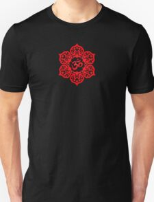 Red Lotus Flower Yoga Om Unisex T-Shirt