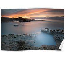 Tantallon Castle Sunset Poster