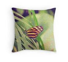 The butterfly counts not months but moments, and has time enough Throw Pillow