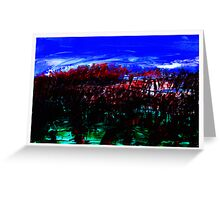 Blood Red Trees Greeting Card