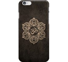 Aged Stone Lotus Flower Yoga Om iPhone Case/Skin