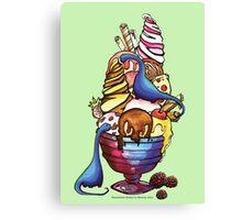 Dinosaur Ice Cream Canvas Print