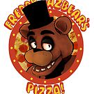 FNAF Freddy Fazbear Logo Fazbear's Pizza by Jacob King