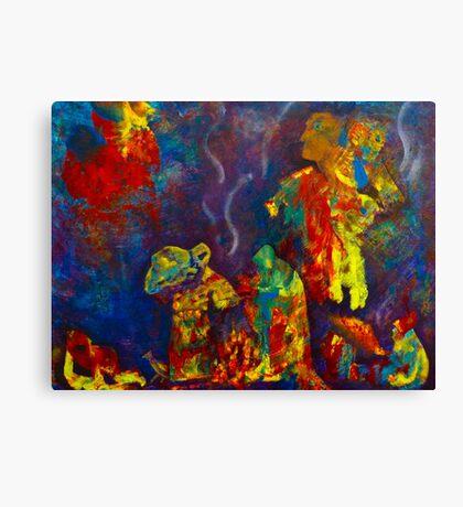 Native American Fire Spirits Canvas Print