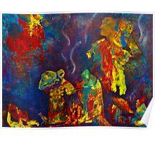 Native American Fire Spirits Poster