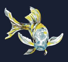 Koi Butterfly Fish Aqua & Yellow Kids Clothes