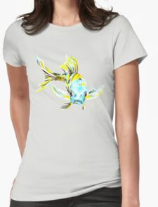 Koi Butterfly Fish Aqua & Yellow T-Shirt
