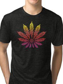 Feather Flower: Neon Sun Tri-blend T-Shirt