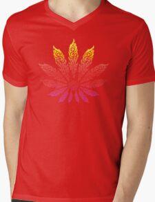 Feather Flower: Neon Sun Mens V-Neck T-Shirt