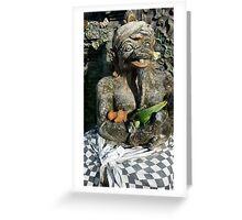 Haniman monkey statue,sanur Bali Greeting Card