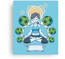 Get Fit - Blue Canvas Print