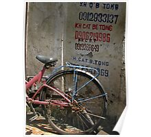 Hanoi - Cat Be Tong bike Poster