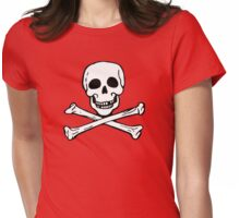 Hot Rod Skull Womens Fitted T-Shirt