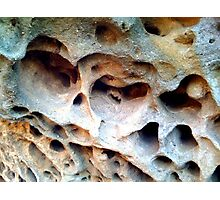 Sandstone Sculpted by Sea Photographic Print