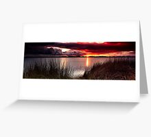 Stormy Sunset Pano Greeting Card