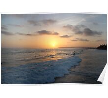 Surf Sunset Poster