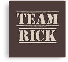 Love Love Rick Canvas Print