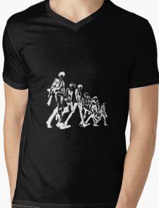 Psycho Pass Unit 1 (White) Mens V-Neck T-Shirt