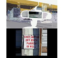 Motor and Turn Off Photographic Print