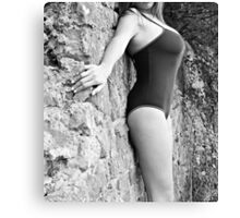Swimsuit Against Wall Canvas Print